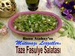 Taze Fasulye Salatası (görsel)