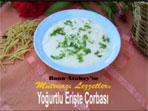 Yo�urtlu Eri�te �orbas� (g�rsel)