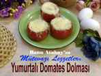 Yumurtalı Domates Dolması (görsel)